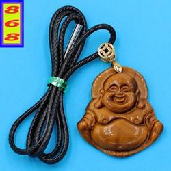Dây chuyền mặt Phật Di Lặc - đá mắt hổ 3.8cm DEDLMH38