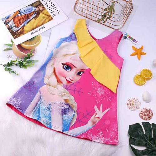 Váy Đầm Bé Gái Elsa công chúa Elsa Cao Cấp Mềm Mát size 3-10