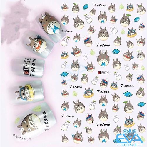 Miếng dán móng tay 3d nail sticker hoạt hình thú totoro f074