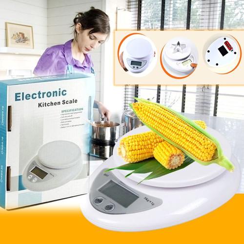 Cân tiểu li điện tử nhà bếp kỹ thuật số cao cấp 5kg -tặng kèm pin sm009-100414-056
