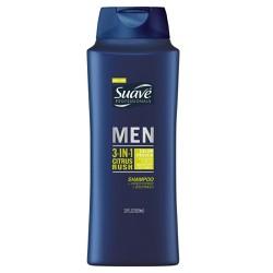 Sữa tắm gội xả 3in1 SuaveProfessionalsMenCitrus Rush Sampoo Conditioner Body Wash 828mlcủaMỹ