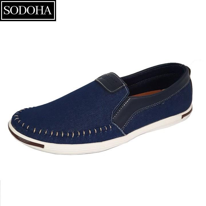 Giày Lười Thời Trang Nam SODOHA SDH5599 Màu Xanh 3