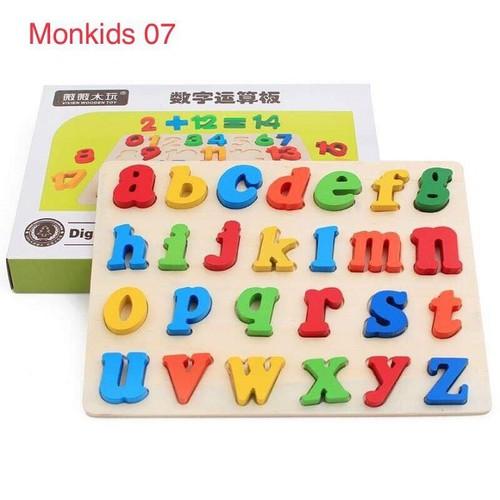 Đồ chơi cho bé - bảng chữ cái tiếng anh bằng gỗ - đồ chơi thông minh