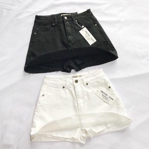 Chân váy ngắn quần chữ a chất jeans mềm mịn,co giãn cực xinh