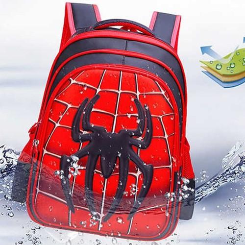 Balo học sinh chống gù lưng in hình nhện3d