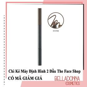 Chì Kẻ Mày Định Hình 2 Đầu The.Face Shop Designing Eyebrow Pencil 3g #03 Brown - Nâu tự nhiên - tfs.may.03