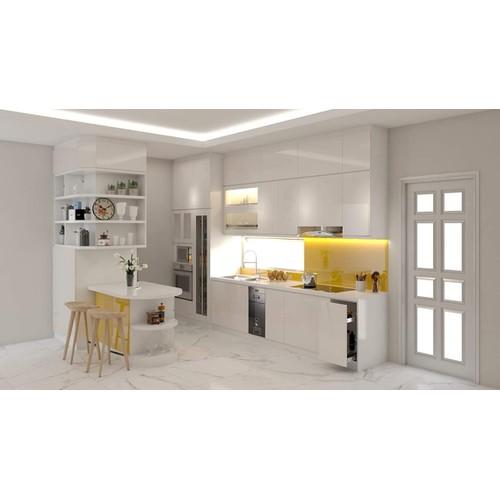 Thiết kế tủ bếp cao sát trần đẹp hiện đại
