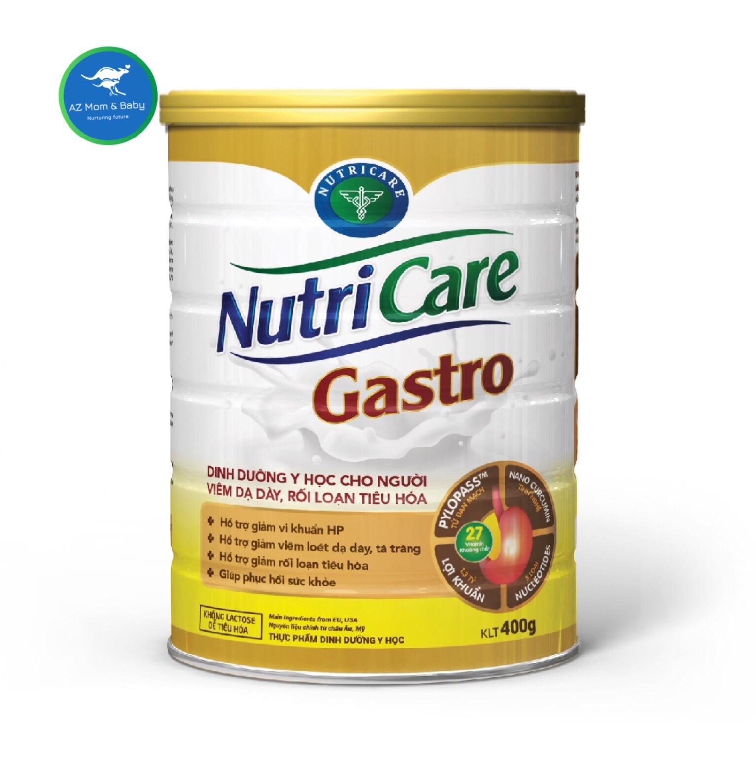 Sữa Nutricare Gastro 400G dành cho người viêm dạ dày, rối loạn tiêu hóa