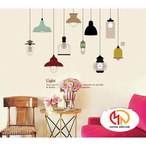 Decal dán tường những ngọn đèn light - 11881503 , 19420003 , 15_19420003 , 55000 , Decal-dan-tuong-nhung-ngon-den-light-15_19420003 , sendo.vn , Decal dán tường những ngọn đèn light