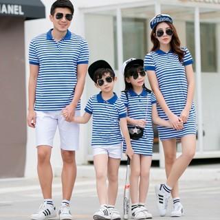 Áo váy gia đình sọc xanh - AG0515 thumbnail