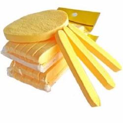 Bông nở rửa mặt Chivey hàng loại 1 gói 12 miếng, Bông mút rửa mặt, miếng rửa mặt