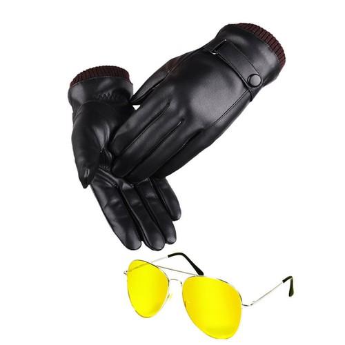 Combo găng tay da nam lót nỉ dùng cho smart phone cảm ứng tặng kèm kính xuyên đêm - 17273173 , 19435527 , 15_19435527 , 220000 , Combo-gang-tay-da-nam-lot-ni-dung-cho-smart-phone-cam-ung-tang-kem-kinh-xuyen-dem-15_19435527 , sendo.vn , Combo găng tay da nam lót nỉ dùng cho smart phone cảm ứng tặng kèm kính xuyên đêm