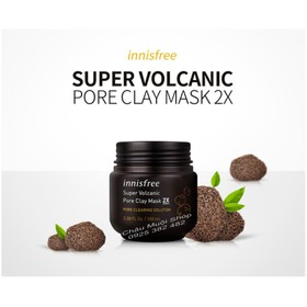 Sale Lỗ Mặt Nạ Tro Núi Lửa Innisfree - Super Volcanic Pore Clay Mask 2X - Date 20-11-2020 - MAT NA INNISFREE
