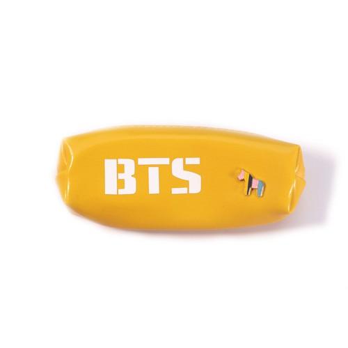 Túi đựng bút, hộp bút bằng da pu phong cách idol bts màu vàng [aam] [pgn31]