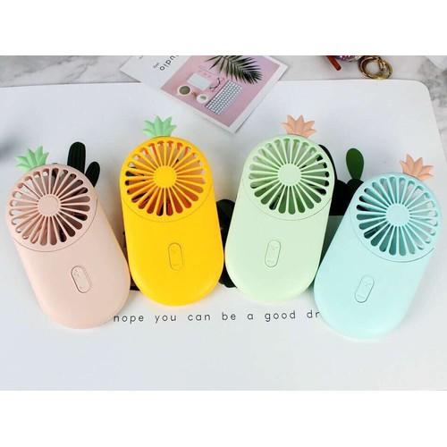 Quạt mini cầm tay funny nhiều màu hình quạt sạc tích điện , chế độ mát cực mạnh
