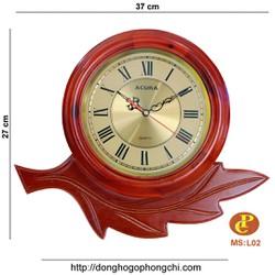 đồng hồ gỗ treo tường L02