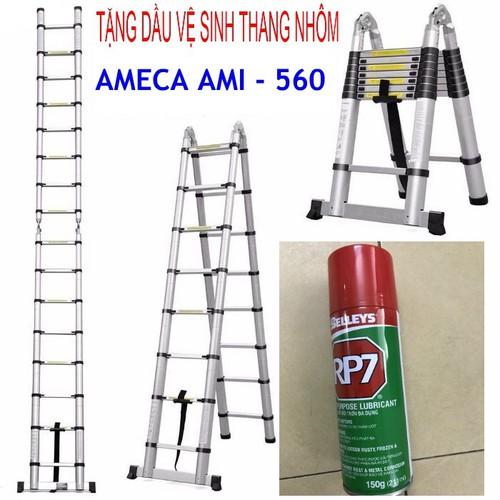 Thang xếp đôi đa năng ameca ami-560 + tặng dầu vệ sinh thang nhôm rp7 - 11892734 , 19437957 , 15_19437957 , 2780000 , Thang-xep-doi-da-nang-ameca-ami-560-tang-dau-ve-sinh-thang-nhom-rp7-15_19437957 , sendo.vn , Thang xếp đôi đa năng ameca ami-560 + tặng dầu vệ sinh thang nhôm rp7