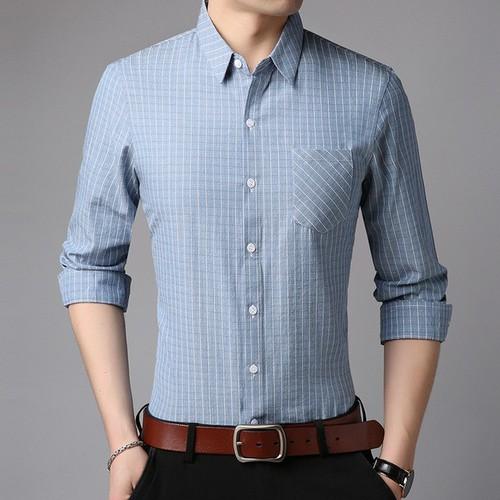 Sơ mi nam dài tay - vải lụa cao cấp - hàng xuất khẩu chất lượng cao