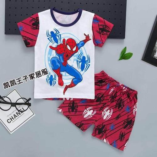 Đồ bộ cho bé trai mẫu siêu nhân nhện đỏ