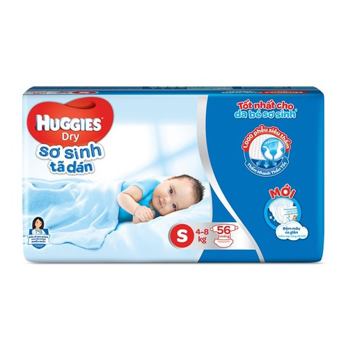 Bỉm huggies dán size s - 30, 56 miếng