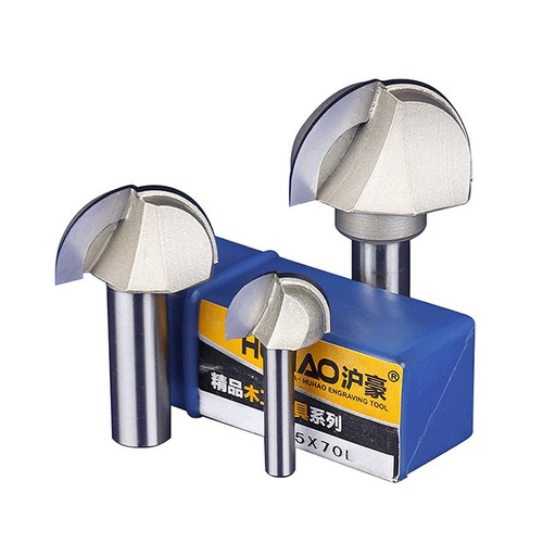 Mũi dao cầu cnc 2 lưỡi thân 6.35mm, 12.7mm, hàng nhà máy