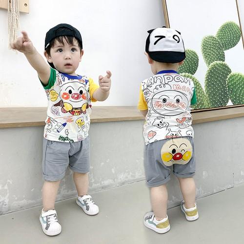 Đồ bộ họa tiết thời trang hè cho bé trai
