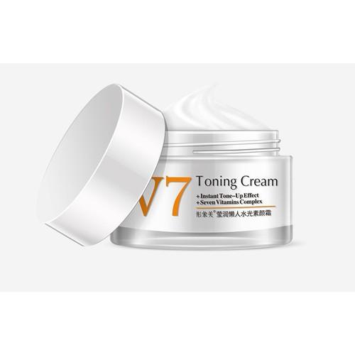 [Quà đỉnh 0đ]kem dưỡng trắng da mặt v7 toning cream -  tặng kèm son dưỡng vaseline