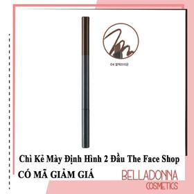 Chì Kẻ Mày Định Hình 2 Đầu The.Face Shop Designing Eyebrow Pencil 3g #04 Black Brown - Nâu đen - tfs.may.04