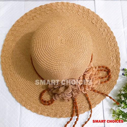 Mũ cói - nón cối đi biển - mũ cói đính dây săm siêu yêu