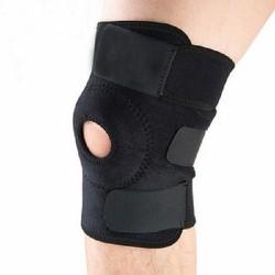 Miếng đệm đầu gối thể thao có khóa dán và khóa zip dễ dàng điều chỉnh tùy theo kích thước của chân
