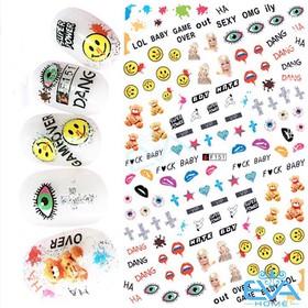 Miếng Dán Móng Tay 3D Nail Sticker Hoạt Hình F151 - 0015001714