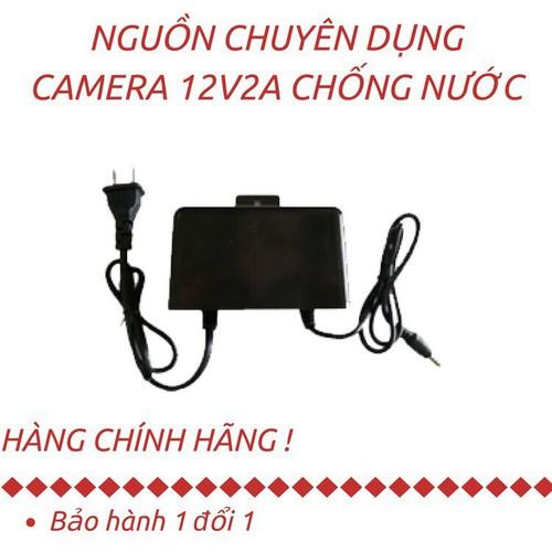 Nguồn chuyên dụng cho camera 12v-2a có móc treo ngoài trời