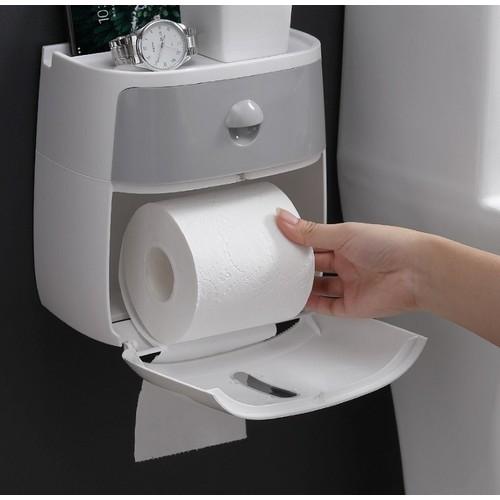 Hộp đựng giấy vệ sinh coco hai tầng đa năng