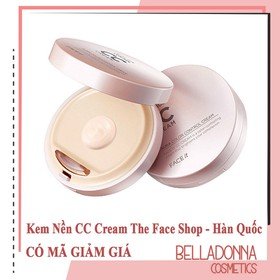 [Có Mã giảm giá, Hàng Chuẩn Auth] Kem Nền CC Cream The.Face Shop Face It Aura Color Control Cream SPF30 PA+++20g - tfs.cc