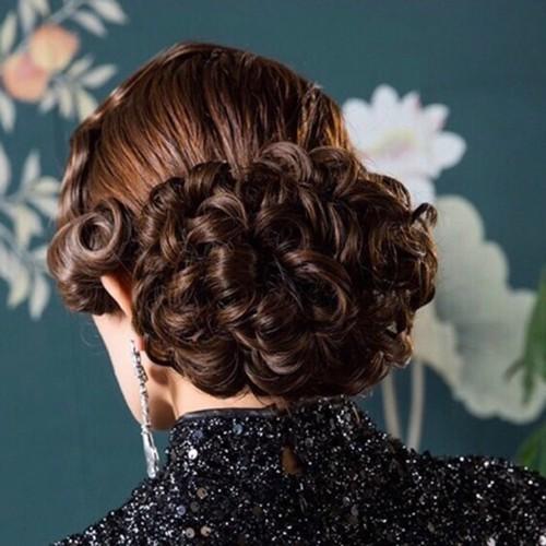 Búi tóc giả cao cấp sang trọng