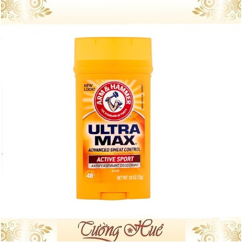 Sáp lăn khử mùi nam arm & hammer ultra max active sport73g.