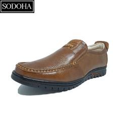 Giày Lười Da Bò Thời Trang Nam SODOHA SDH8299 Màu Nâu Vàng