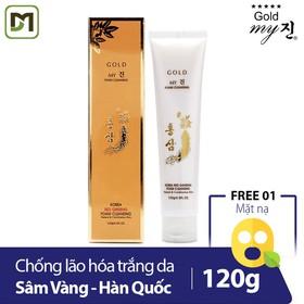 [Freeship] Sữa rửa mặt sâm vàng My Gold Ginseng Cleansing Foam chống lão hóa trắng da Hàn Quốc 120g - Hàng Chính Hãng - MG-Cleansing Foam