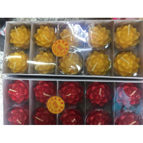 Nến thấp hoa sen hộp 10 nến loại thường