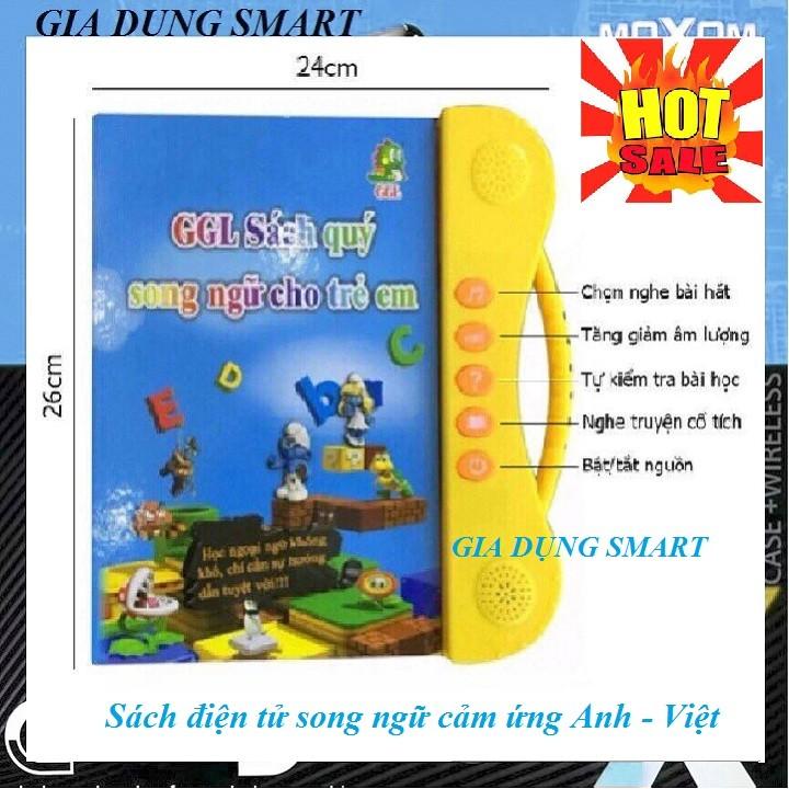 [TẶNG BÚT VIẾT + 5 SÁCH DÁN] Sách Điện Tử Song Ngữ Anh - Việt Cho Trẻ Em Từ 3 Đến 10 Tuổi - Có Video Thực Tế