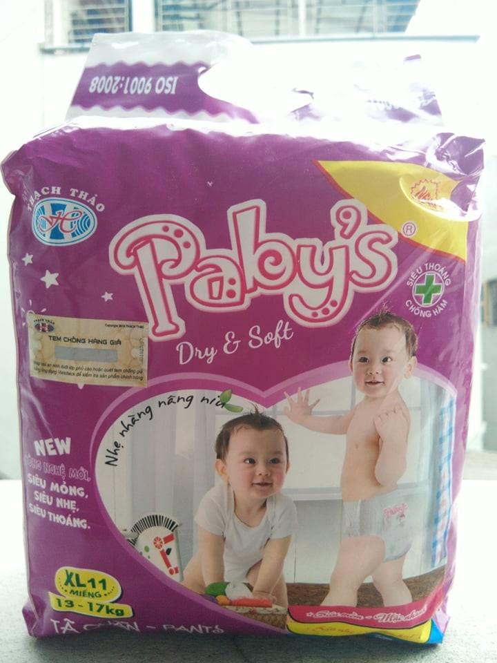 Hình ảnh Giảm giá 100 miếng Size XL +KM cho bé 13-17 kg bỉm quần Thạch Thảo Paby's