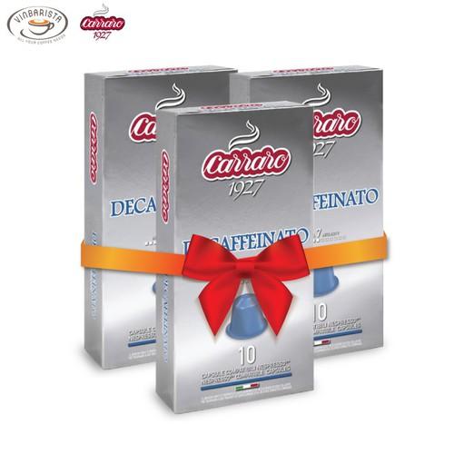 Combo 3 hộp cà phê viên nén carraro decaffeinato - nhập khẩu chính hãng từ thương hiệu carraro, ý
