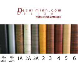 Combo 5 mét Decal giấy dán tường giả gỗ
