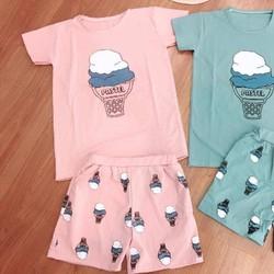 Bộ mặc nhà kem pastel