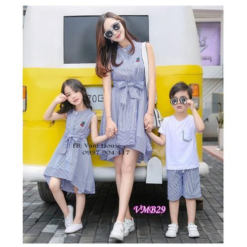 Sét đầm đôi cho mẹ và bé gái - 11906159 , 19459234 , 15_19459234 , 335000 , Set-dam-doi-cho-me-va-be-gai-15_19459234 , sendo.vn , Sét đầm đôi cho mẹ và bé gái