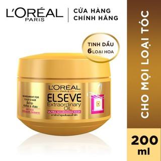 Kem ủ chiết xuất tinh dầu hoa tự nhiên L Oreal Paris Elseve Extraordinary Oil Ultra Nourishing 200ml - 8992304068034 thumbnail