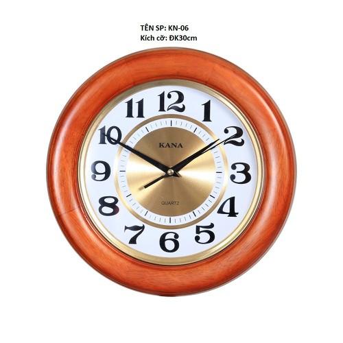 Đồng hồ gỗ tròn kn 06 30cm