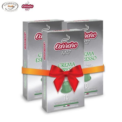 Combo 3 hộp cà phê viên nén carraro crema espresso - nhập khẩu chính hãng từ thương hiệu carraro, ý