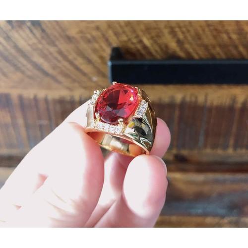 Nhẫn nam cao cấp dát vàng 18k đính đá đỏ cực đẹp - 11907675 , 19461214 , 15_19461214 , 170000 , Nhan-nam-cao-cap-dat-vang-18k-dinh-da-do-cuc-dep-15_19461214 , sendo.vn , Nhẫn nam cao cấp dát vàng 18k đính đá đỏ cực đẹp