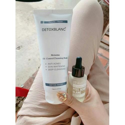 Combo detox blanc thải độc kèm serum pell trị mụn